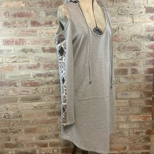 Venus cold shoulder hooded dress
